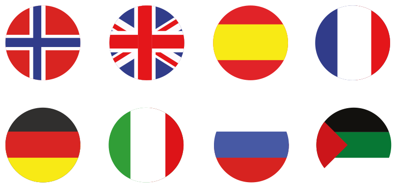 Languages circle flags