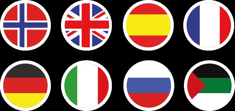 Languages circle flags